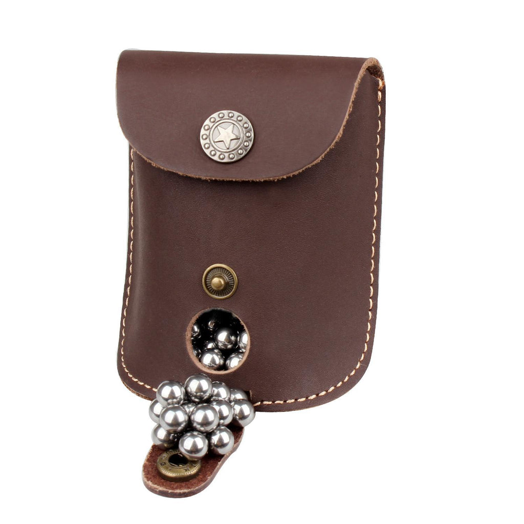 SLING SHOT POUCH- BROWN LEATHER