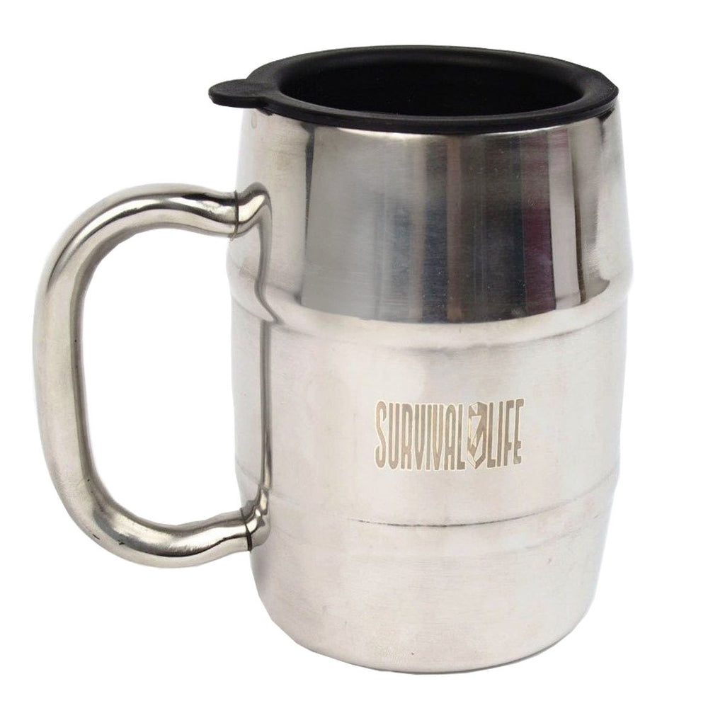 Survival Life Stainless Steel Beer Mug