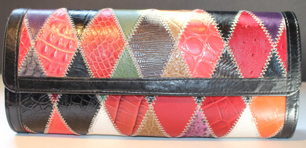 Leather Patterned Clutch/Purse