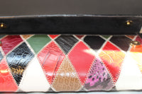 Leather Patterned Clutch/Purse - Nubian Goods