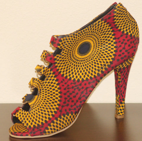 Ankara High Heel Shoe