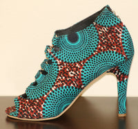 Womens Ankara Shoe - Nubian Goods
