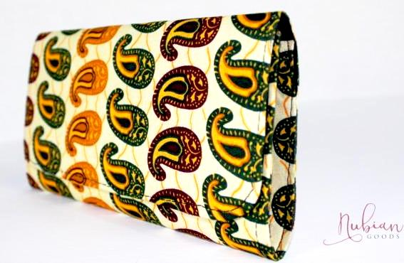 The Djenne Ankara Clutch/Purse - Nubian Goods