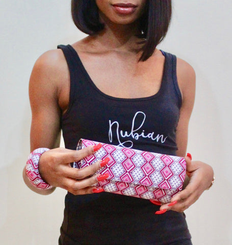 The Freetown Ankara Clutch/Purse and Bangle - Nubian Goods