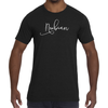 Men's Nubian Slim Fit T-Shirt White Logo - Nubian Goods