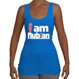 Ladies I am Nubian Tank Top T-Shirt (White Txt)