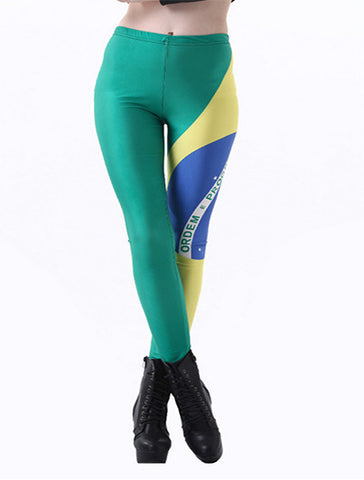 Printed Leggings Brazilian Flag