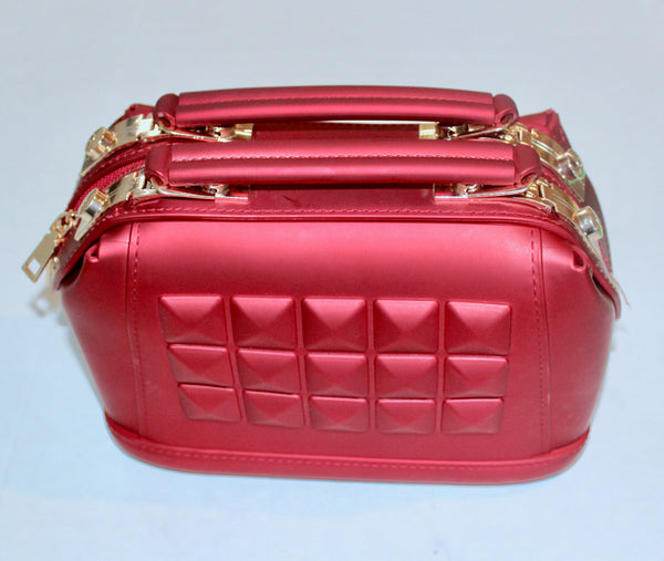 Double Compartment Leather HandBag/Purse
