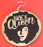 Earrings - Black Queen Afro