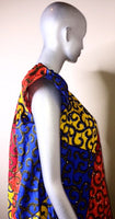 Ladies Ankara high shoulder dress