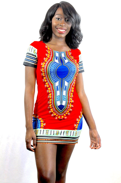 Ladies Bodycon Dashiki