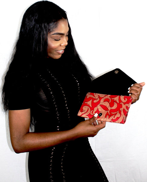 The Cotonou Ankara Clutch/Purse - Nubian Goods