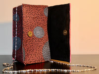 Ankara and Leather Mix HandBag/Purse