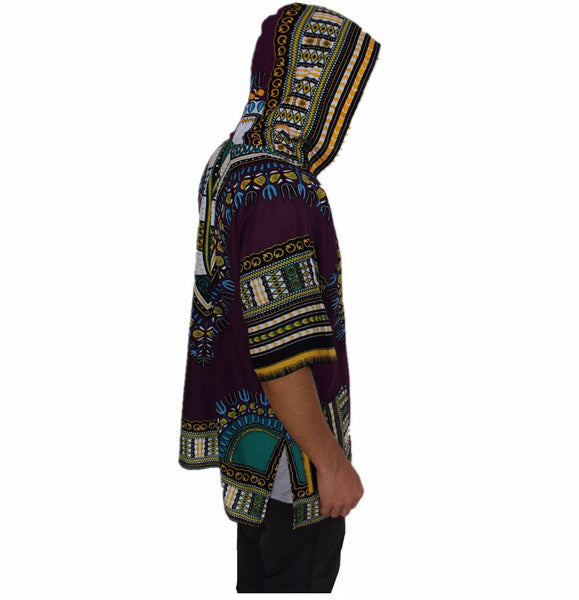 Loose African Hooded Dashiki - Nubian Goods