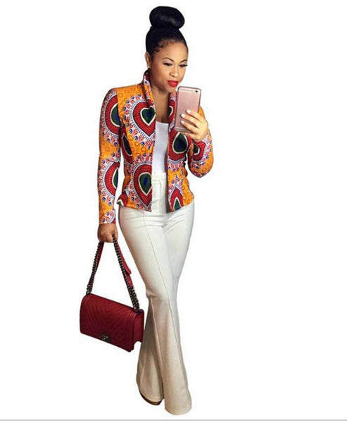 Ladies Short Ankara Jacket