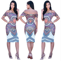 Ladies Print Bodycon Dashiki - Nubian Goods