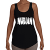 Ladies Black Nubian Racerback Tee - Nubian Goods