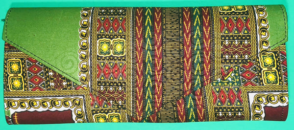 The Kano Ankara Clutch/Purse - Nubian Goods