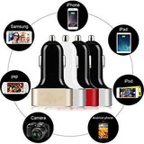 3-Port USB high-capacity car charger for smartphones & tablets