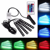 Ambient lighting kit - 4 multi-colour LED strips with remote control & sync-to-music