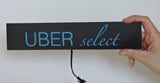 Illuminated glowing blue UberSelect door runners (set of 2)