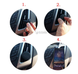 Magnetic air-vent telephone mount & smartphone holder