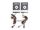 Duo package: 2 x White Uber illuminated glow light signs - NEW 2016 logo