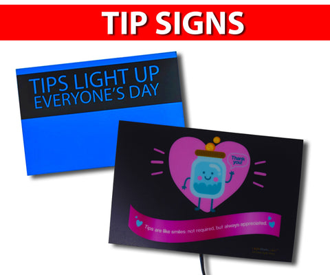 Tip Signs for Uber, Lyft & All Rideshare Drivers