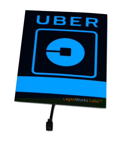 Light panel only - blue NEW LOGO Uber signs