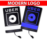 "Uber Modern ""O-LED"" Logo Glow Light Sign - Blue & White Available"