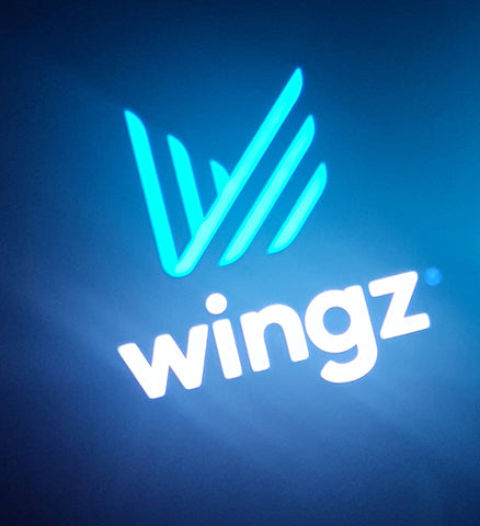 Wingz Illuminated Glow Light Sign