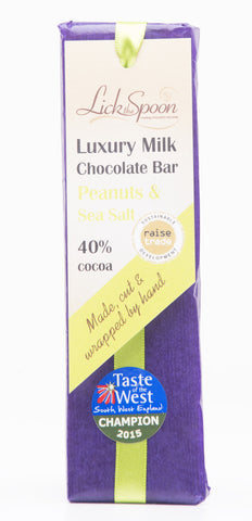 Lick the Spoon - Peanuts and Sea Salt Milk Chocolate Bar 50g