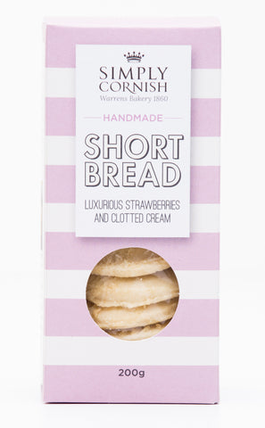 Simply Cornish -Strawberry & Clotted Cream Shortbread 200g