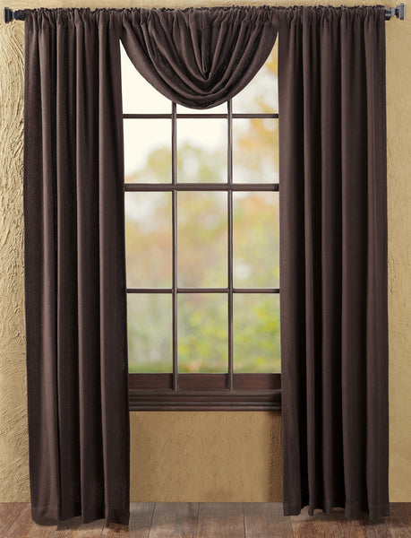 Burlap Chocolate Collection - Various Window Treatments - Curtains, Valance - VHC Brands