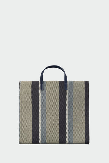 Shopper bag con estampado de rayas