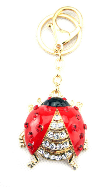 Diamante Ladybird Key Ring