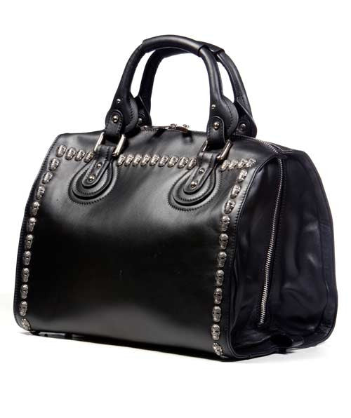 b815429d15 VC Inspired · Doctor Bag with silver skull rivets