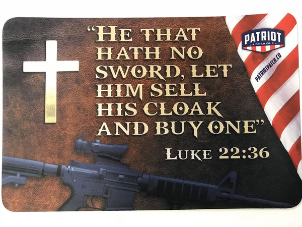 Luke 22:36 Gun Cleaning Mat / Mouse Pad