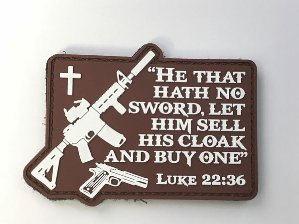 Luke 22:36 PVC Morale Patch