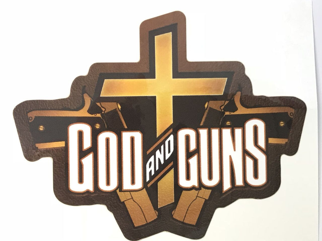 God and Guns Vinyl Stickers