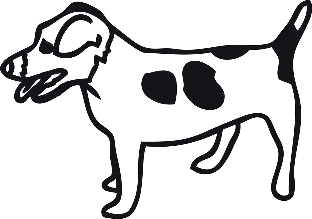 "JACK RUSSEL TERRIER DOG STANDING  5"" WIDE DECAL BY EYECANDY DECALS"