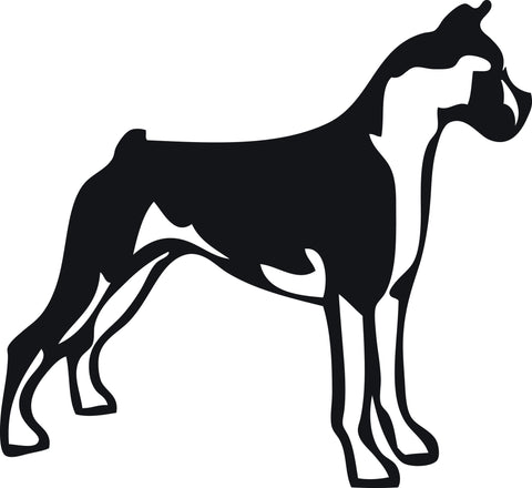 "BOXER DOG STANDING  5"" WIDE DECAL BY EYECANDY DECALS"