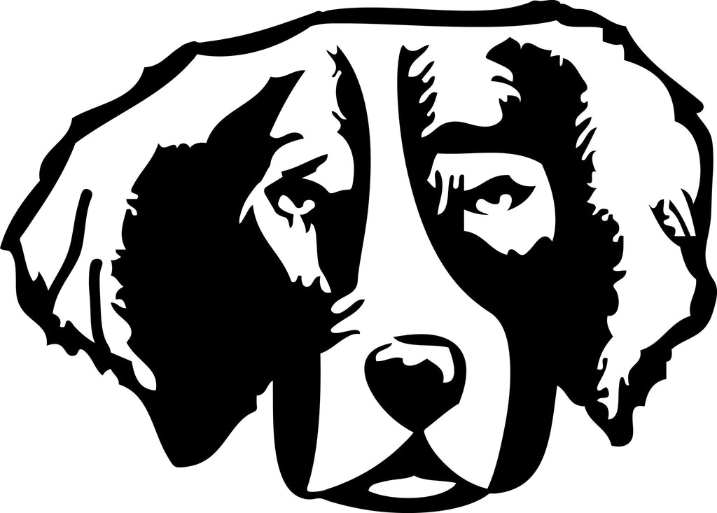 "BRITTANY DOG HEAD  5"" WIDE DECAL BY EYECANDY DECALS"