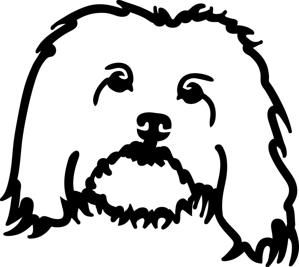 "HAVANESE DOG HEAD  5"" WIDE DECAL BY EYECANDY DECALS"