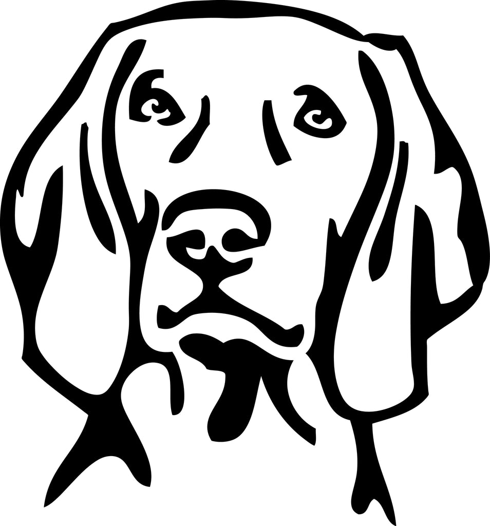"WEIMARANER DOG HEAD  5"" TALL DECAL BY EYECANDY DECALS"