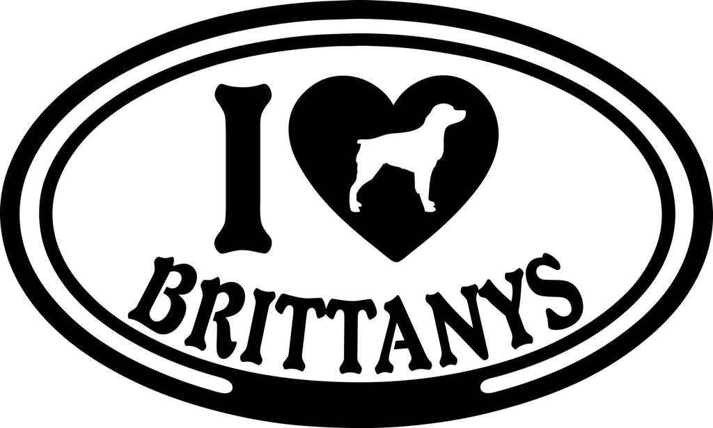 "I LOVE BRITTANYS  5"" WIDE DECAL BY EYECANDY DECALS"