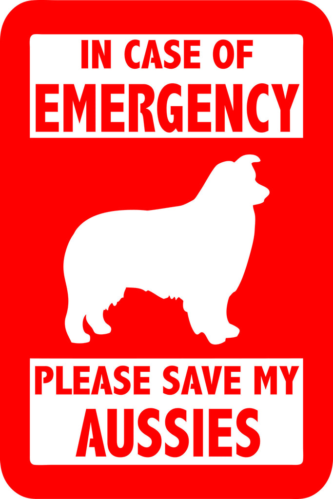 "PLEASE SAVE MY AUSSIES  5"" TALL DECAL BY EYECANDY DECALS"
