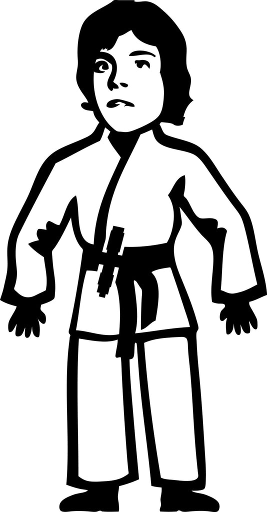 "STICK FAMILY MAN STAR WARS LUKE SKYWALKER   5"" TALL DECAL WHITE          -          manufactured & sold by EYECANDY DECALS"