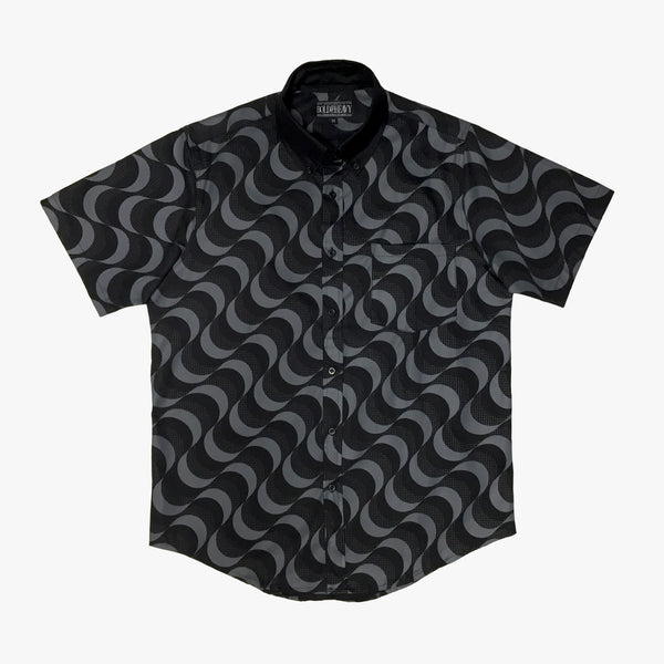 'Waves' Button Down [Black/Grey]