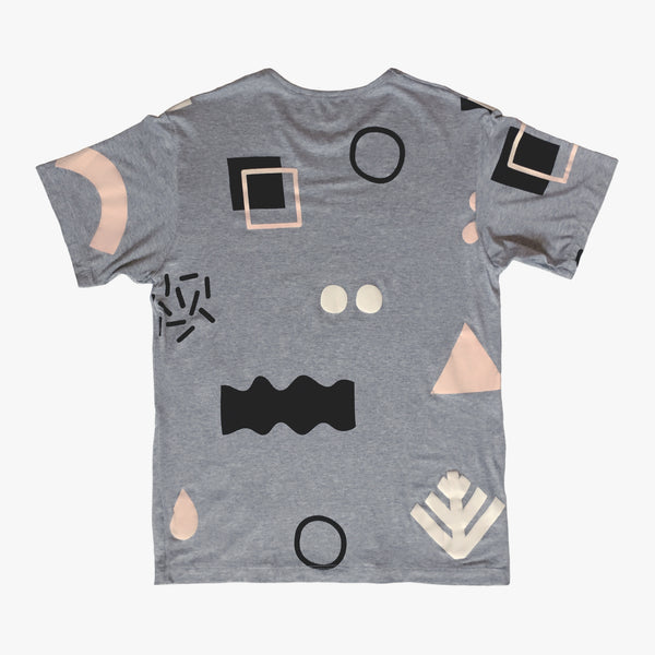 DE1989 x B&H: Pattern89 T-Shirt [Heather Grey]